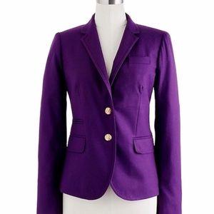 J Crew Schoolboy Blazer Purple Wool Classic 00